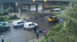 خودکشی زن جوان از بالای پل در مشهد + تصویر