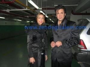حسام نواب صفوی و همسرش