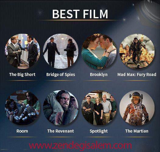 نامزد های جایزه اسکار 2016