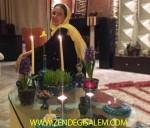 پریناز ایزدیار در کنار هفت سین در خانه