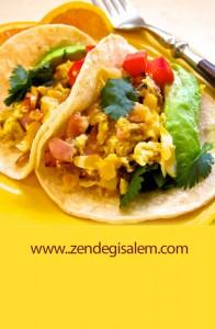 طرز تهیه تاکو صبحانه ( Breakfast Taco)