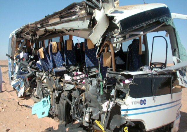 سقوط وحشتناک اتوبوس به دره در نی ریز فارس