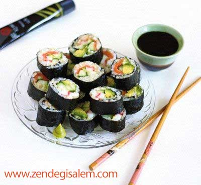 طرز تهیه غذای سوشی( Sushi)