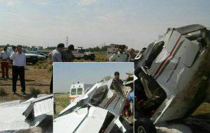 سقوط هواپیما در قزوین