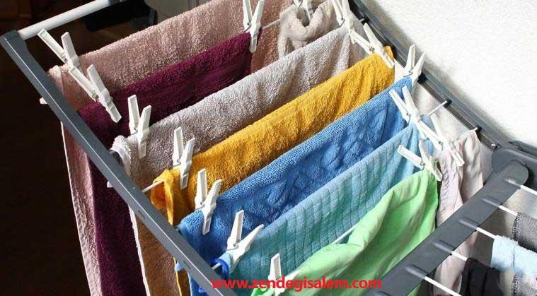 آویزان کردن لباس خیس در منزل ممنوع