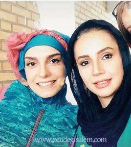 الیکا عیدالرزاقی در کنار شبنم قلی خانی