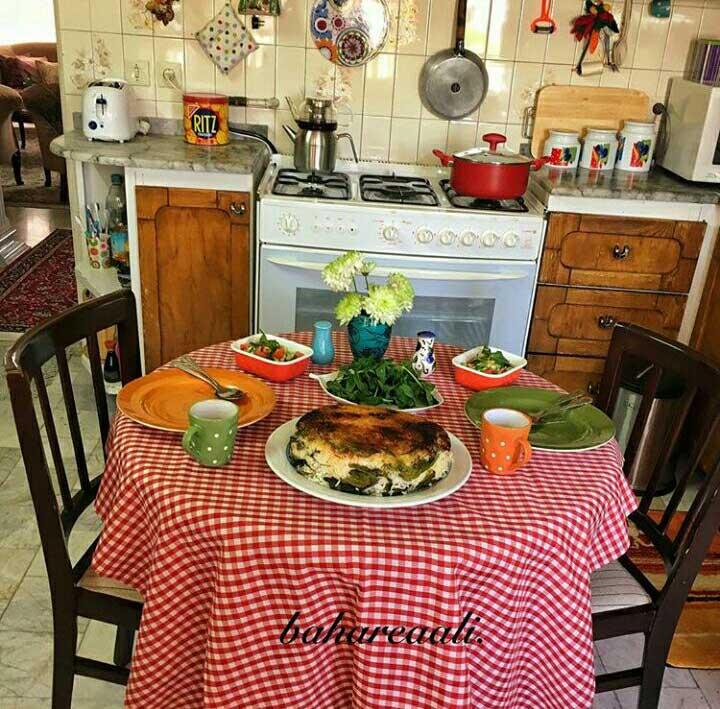 خلاقیت و هنر آشپزی را در خانه سبز بهار خانم ببینید.