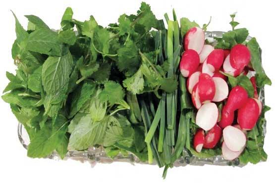 سبزیخوردن کنار غذا فراموش نشود