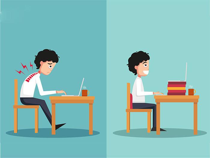 نحوه صحیح نشستن پشت کامپیوتر
