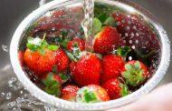 شستن انواع میوه